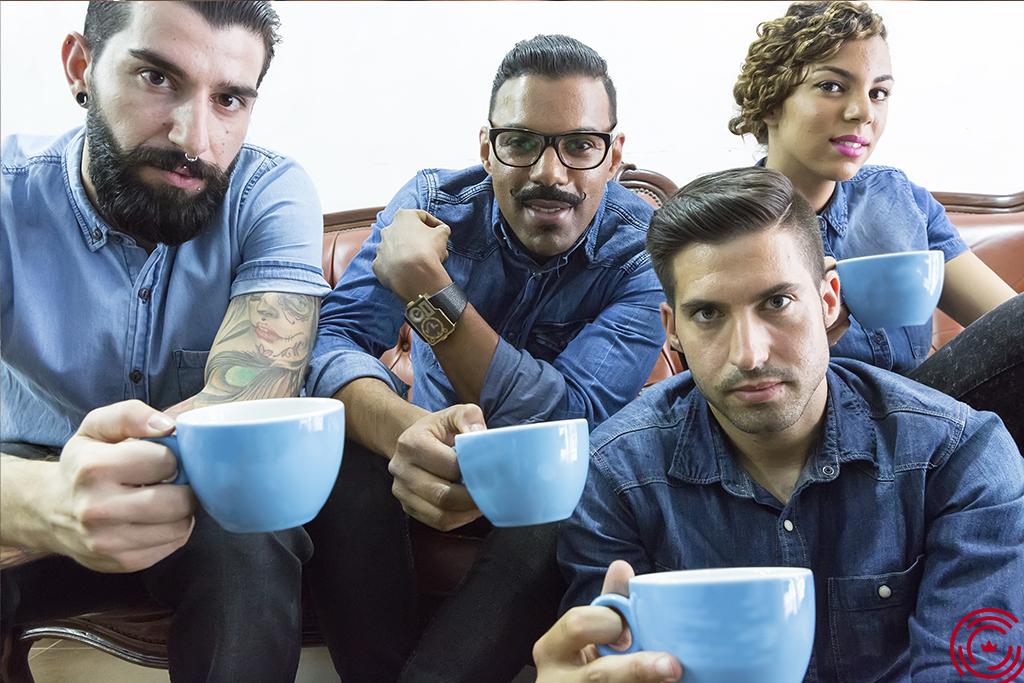 Group of man barber shop